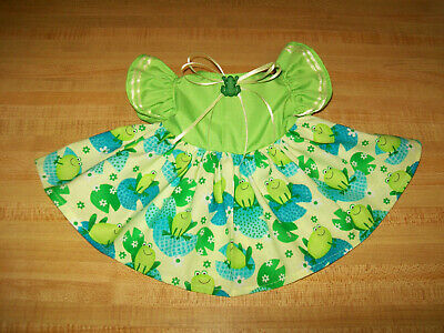 "FLORIDA FLAMINGOS PALM TREES DRESS w// BUTTON for 16-17/"" CPK Cabbage Patch Kids"