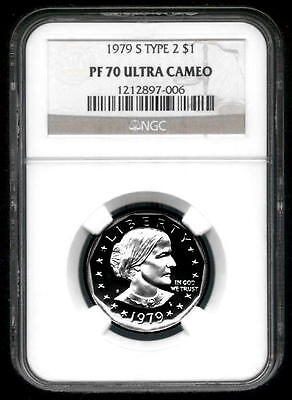 1979-S Type 2 Susan B. Anthony ($1) - NGC PF 70 UC - NGC Pop = 304 - NO RESERVE!
