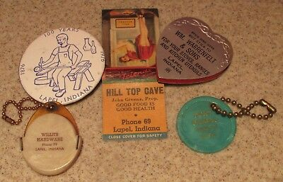 Group of advertising items - LAPEL, INDIANA - WILLITS - HILL TOP - DICKERSON ++