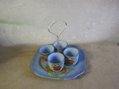 Vintage Egg Cups X 4 On Matching Stand