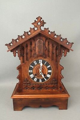 Black Forest Automaton Cuckoo Style Trumpeter / Bugler Mantel Clock