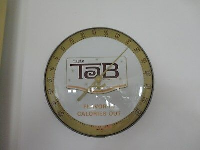 1960s Original Tab Round Advertising Thermometer Coca Cola Brand Diet Soda RARE