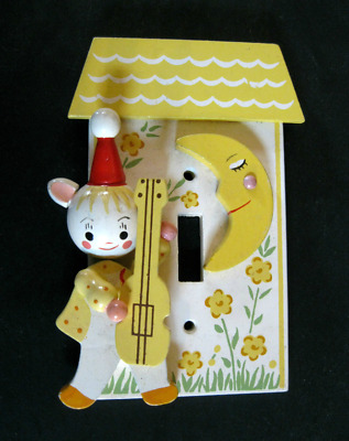 Vintage Cat & Fiddle Child or Baby's Wall Plate Switch Cover Originals By IRMI