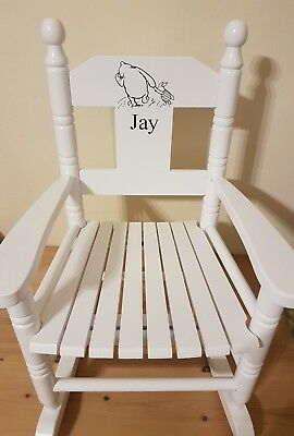 Powell Craft Childrens Wooden Rocking Chair  Winnie The Pooh Any Name