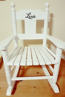 Powell Craft Childrens Wooden Rocking Chair Personalised Available In White!