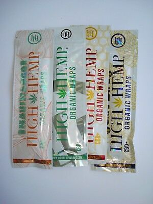 4 x High Hemp Wraps Organic Maui Grape Ape Honey Pot (4 Pouches / 8 Wraps Total)