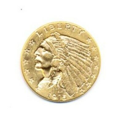 1915 $2.5 Indian Head Gold Exact Coin From A Near Complete Collection FREE Ship