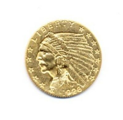 1926 $2.5 Indian Head Gold Exact Coin From A Near Complete Collection FREE Ship