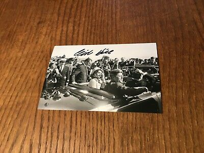 Clint Hill Signed 4X6 Photo! President Kennedy's Agent Assassination Jfk Auto 1