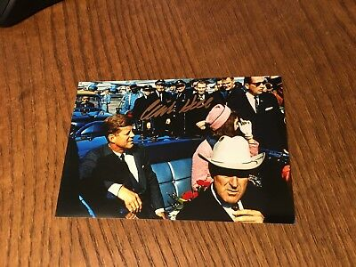 Clint Hill Signed 4X6 Photo! President Kennedy's Agent Assassination Jfk Auto 6