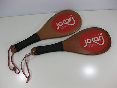 Lot of 2 Jokari Champ Model Wooden Racquetball Paddle Game or Spanking Game