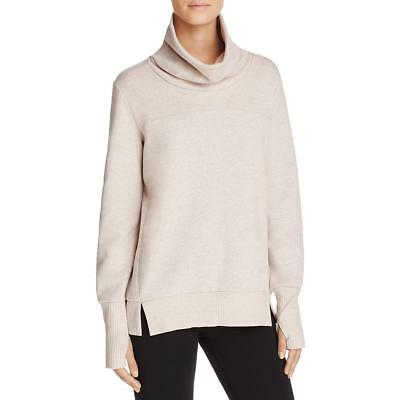 Alo Yoga 6842 Womens Pink Yoga Heathered Cowl Neck Sweatshirt Top S BHFO