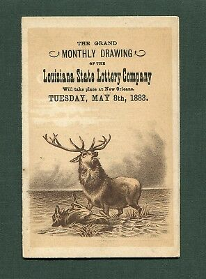 1883 Louisiana State Lottery Company Advertising Trade Fold-Out Card