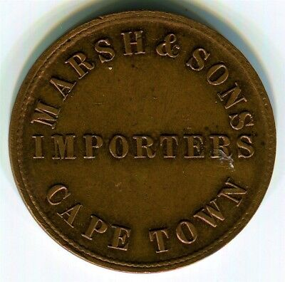 South Africa, Capetown - c1879 March & Sons 1/2d Token