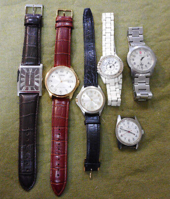 #d366.  Lot Of Six Watches