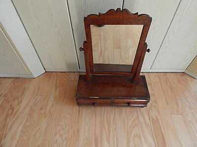 Antique Empire Mahogany Cabinet With Mirror Stand Missing Veneer Nice Intnl Sale