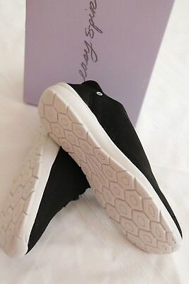NIB EASY SPIRIT Black Gosport Shoes Sneakers Lace Up 7 1/2 M $79.00