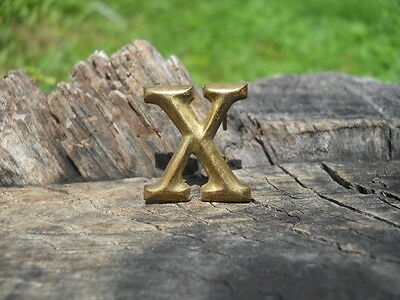 Rare Original Vintage Antique Civil War Relic Company Letter X Brass Lead Filled