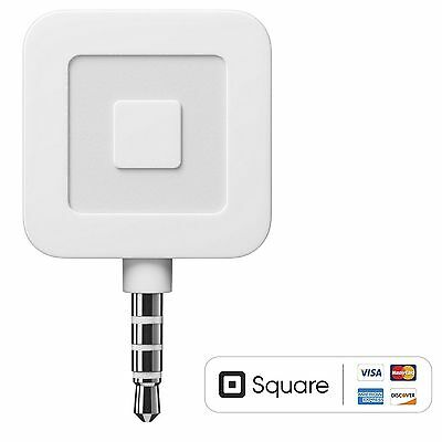 2PCS of Square Credit Card Reader for Apple iPhone & Android White-Free Shipping