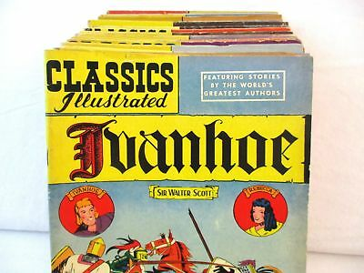 Lot Of 31 CLASSICS ILLUSTRATED Comics #2-159 Golden Silver Age