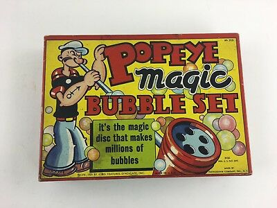 Vintage 1929 Popeye The Sailor Man Magic Bubble Set Pipe King Features Complete