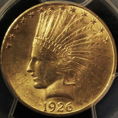 1926 $10 Gold Indian Head Eagle PCGS Gold Shield MS62 (#84655468)