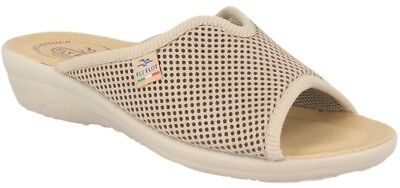Fly Flot T4429 Fe Beige Ciabatte Donna Made In Italy Sottopiede Vera Pelle  Antis 9c348e7fc51