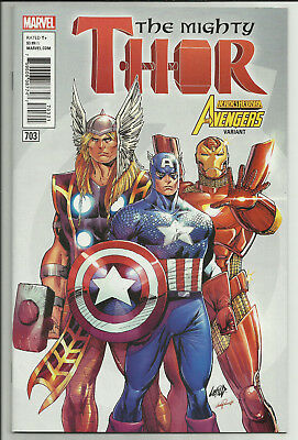 Mighty Thor #703 Rob Liefeld Avengers Heroes Reborn Variant Marvel Legacy 2018