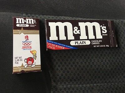 Vintage Candy Wrapper Box M&M's Olympic Games  Cereal Snack