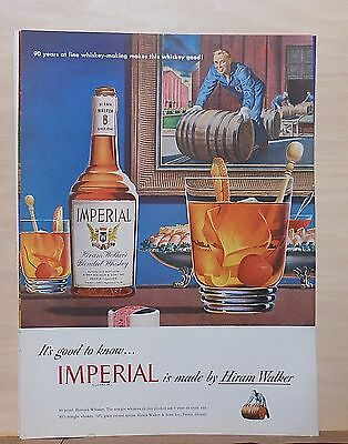 1948 magazine ad for Imperial Whiskey - Whiskey sours, 90 years fine whiskey