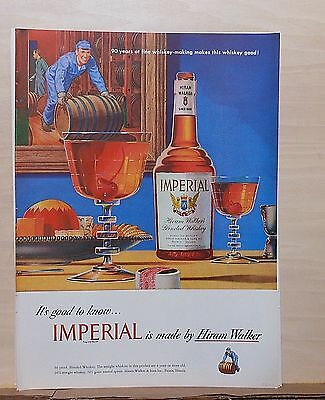 1948 magazine ad for Imperial Whiskey - Manhattans, 90 years fine whiskey making