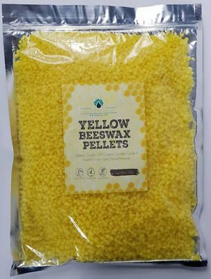 Yellow Beeswax Pellets Cosmetic Grade A Organic 1kg Tripple Filtered 100% Natura