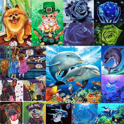 5D DIY Diamond Painting Animal Embroidery Home Decor Cross Crafts Stitch Gifts