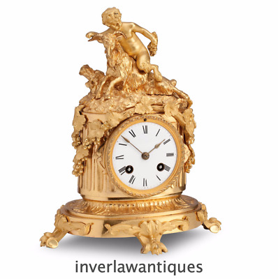 Absolutely Stunning French 19th C Gilt Ormolu Mantel Clock