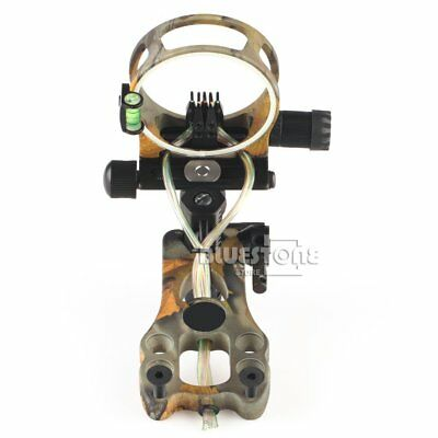 """5-Pin Bow Sight w/ LED Light & Micro Adjustments for Compound Bow Fiber 0.019"""""""