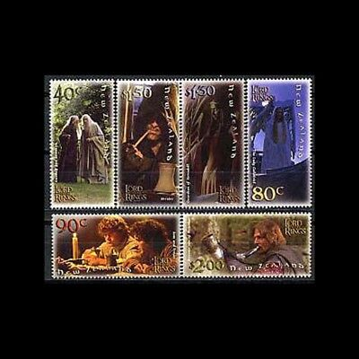 New Zealand, Sc #1750-55, MNH, 2001, Trilogy, The Lord of Rings,  CL82F