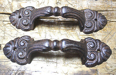 16 Large Cast Iron Antique Style FANCY Barn Handle Gate Pull Shed Door Handles