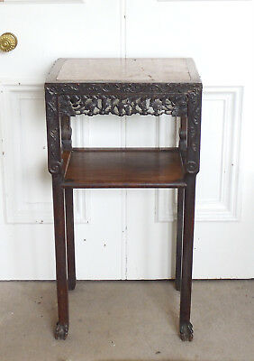 19th C Qing Dynasty Incense Stand Side Table