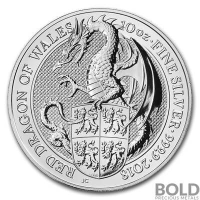 2018 Silver Great Britain Queen's Beasts (The Dragon) - 10 oz