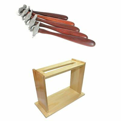 Fretz HMR 1-5 Professional Jewelers Chasers Repousse Set with Hammer Stand