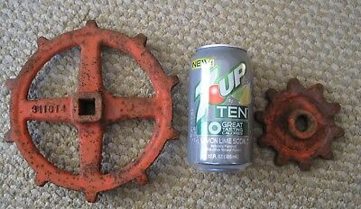 Turn Handles Large Valve Faucet Industrial Cast Iron Old Paint Steampunk Lot - 4