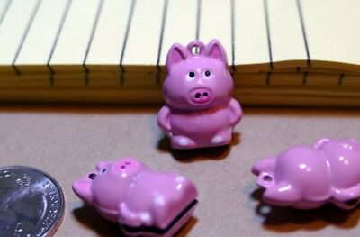 Pink Pigs!  Baked Enamel Copper Bells: Jewelry, Awards, Decor