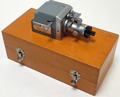 ROTEM INDUSTRIAL PRODUCTS PRECISION MICROMETER w/ WOOD CASE, GOOD USED CONDITION