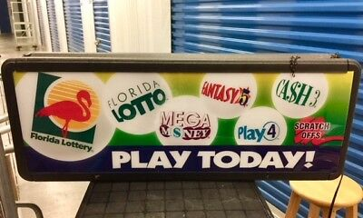 Florida Lottery Advertising Lighted Sign