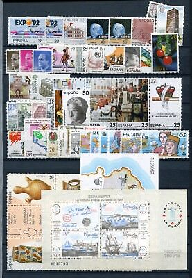 SPAIN 1987 COMPLETE YEAR MNH Stamps & SHEETS 45 Items