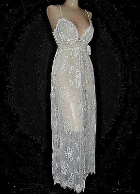 "Claire Pettibone Bridal Trousseau ""Hope"" Ivory Long Lace Gown XS NWT $180 Luxury"