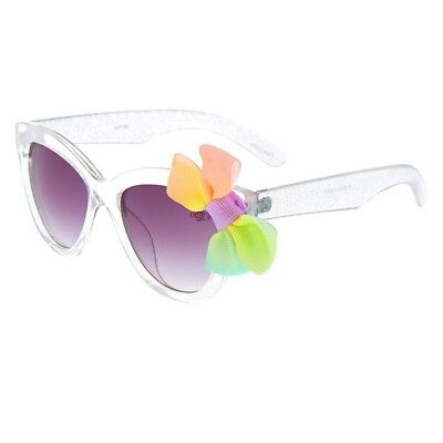 JoJo Siwa Authentic Clear Glitter Sunglasses with BOW and 400 UV Protection NWT!