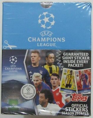 Box Topps Champions League Sticker 2016/2017 1 x Display / 50 Tüten/ 250 Sticker