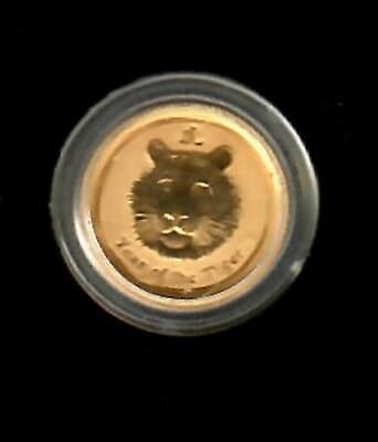 Australia 5 Dollars 2010 - year of the Tiger 1/20 oz Gold Coin
