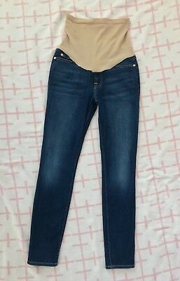 NWOT 7 for all Mankind for A Pea in the Pod Maternity Skinny Jeans Sz 26 RP$198